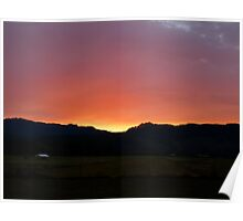 Sunset on the Airstrip Poster