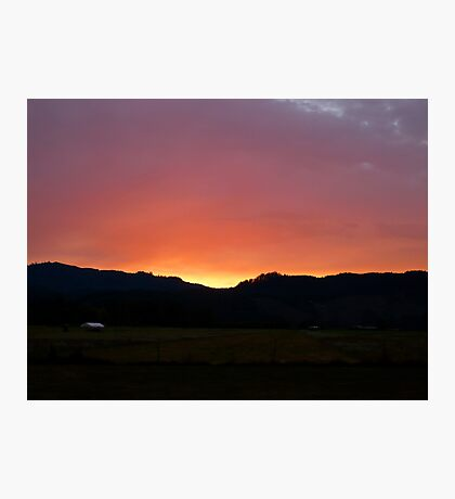 Sunset on the Airstrip Photographic Print