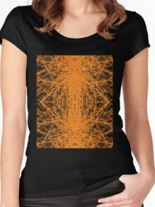 Branches - Orange Women's Fitted Scoop T-Shirt