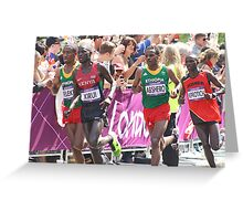 Gold And Silver - Mens Olympic Marathon - London 2012 Greeting Card