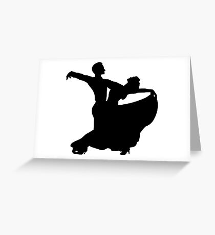 Ballroom Dancing Couple Greeting Card