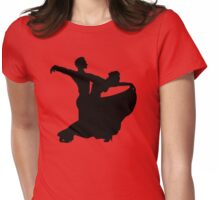 Ballroom Dancing Couple Womens Fitted T-Shirt