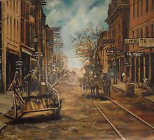Water Street, Old Norfolk, Virginia circa 1887 by Jsimone