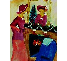 We are ready for Christmas, watercolor Photographic Print