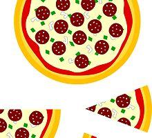 Pizza Sticker Kit (whole, quarter, 2 slices) by xouren