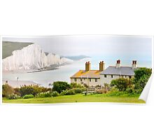 Coastguard Cottages - Cuckmere Haven - Seaford East Sussex Poster