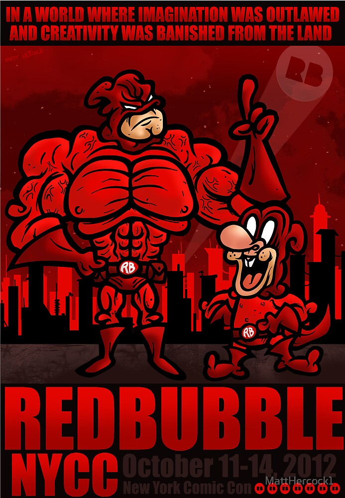 RED BUBBLE COMIC CON COMP ENTRY by MattHercock1