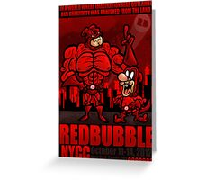 RED BUBBLE COMIC CON COMP ENTRY Greeting Card