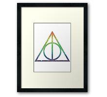 Deathly Hallows Rainbow Framed Print