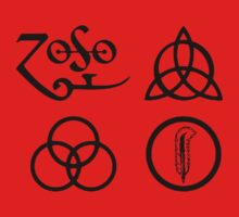 Led Zeppelin-4 ZOSO symbol Kids Clothes