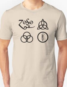 Led Zeppelin-4 ZOSO symbol T-Shirt