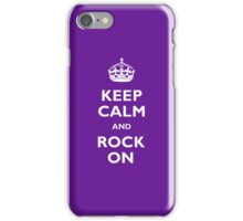 Keep Calm - Purple iPhone Case/Skin