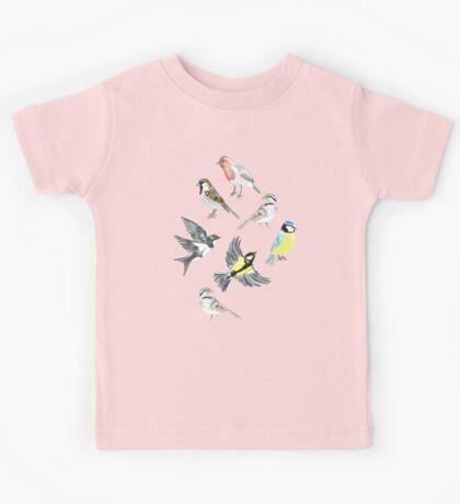 Illustrated Birds Kids Tee