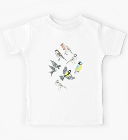 Illustrated Birds Kids Tee