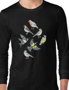 Illustrated Birds Long Sleeve T-Shirt