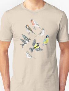 Illustrated Birds Unisex T-Shirt