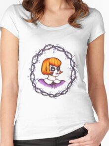 Skeleton Wreath Women's Fitted Scoop T-Shirt