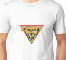 angry wild dog wolf head triangle Unisex T-Shirt