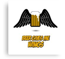 Beer give me wings Canvas Print