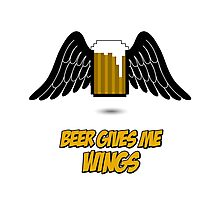 Beer give me wings Photographic Print