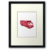 horse truck trailer retro Framed Print