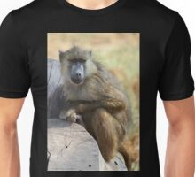 Yellow Baboon Alert While Resting Unisex T-Shirt