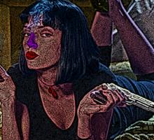 Pulp Fiction Mia Wallace Culture Cloth Zinc Collection Sticker