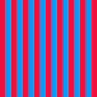 Red and Blue Stripes Case by Betty Mackey