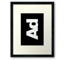 ad Framed Print