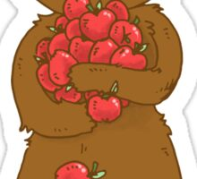 Bear Loves Apples Sticker