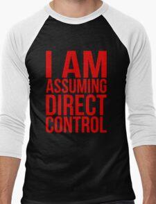 """Mass Effect 2 - """"I Am Assuming Direct Control"""" Men's Baseball ¾ T-Shirt"""