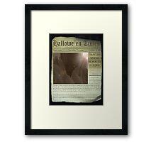 DANGER!! Nessie is here! Framed Print