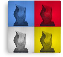 Primary statues Canvas Print
