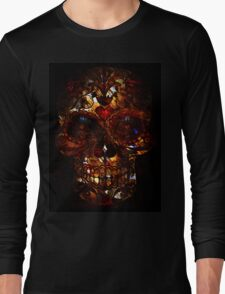 Day of the Dead Death Mask Long Sleeve T-Shirt
