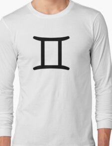 Gemini - The Twins - Astrology Sign Long Sleeve T-Shirt
