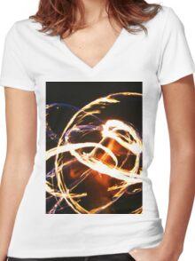 Fiya Bunn Women's Fitted V-Neck T-Shirt