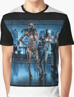Cyberpunk Nightclub Painting 001 Graphic T-Shirt