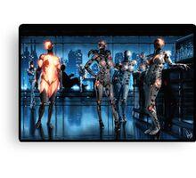Cyberpunk Nightclub Painting 001 Canvas Print