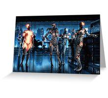 Cyberpunk Nightclub Painting 001 Greeting Card