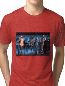 Cyberpunk Nightclub Painting 001 Tri-blend T-Shirt