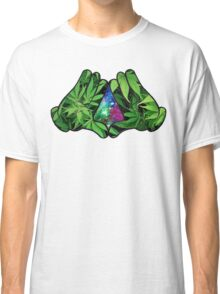 The Weed Galaxy Hands Classic T-Shirt
