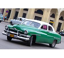 green car Photographic Print