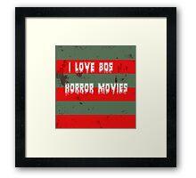 I love 80s horror movies Framed Print