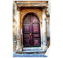 Old Door in a Medieval City Poster