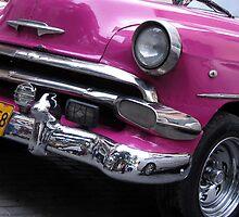 Pink car by Anne Scantlebury