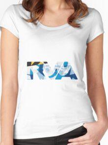 "RVA - flood wall ""PoP Art"" Women's Fitted Scoop T-Shirt"