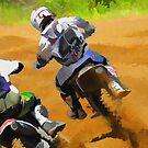 Motocross Dirt-Bike Championship Racers by NaturePrints