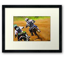 Motocross Dirt-Bike Championship Racers Framed Print