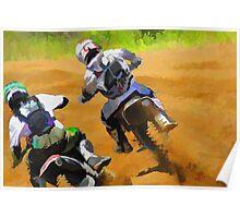 Motocross Dirt-Bike Championship Racers Poster