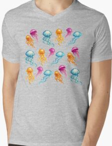 JellyFish, tan Mens V-Neck T-Shirt